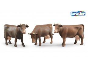 Figurka-kráva /hnědá/ značky Bruder - BR 02308