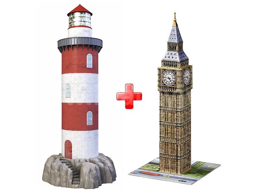 aba9e9756 3D puzzle Maják v příboji 216 dílků Ravensburger + Ravensburger 3D ...