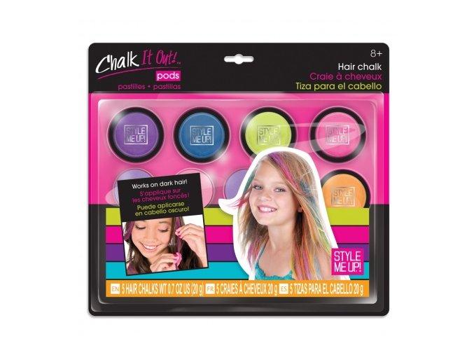 SMU Křídy barevné smývatelné na vlasy set 5ks s aplikátorem Style Me Up