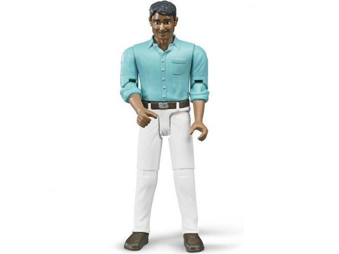 BRUDER 60003 Bworld - Muž snědá pleť, bílé džíny