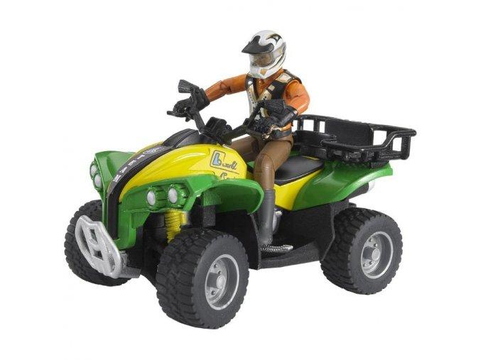 BRUDER 63000 Bworld Čtyřkolka s řidičem