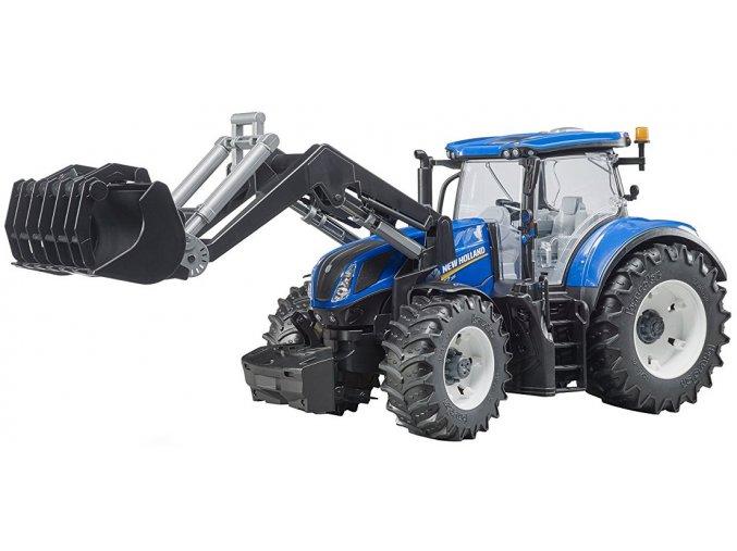 BRUDER 3121 Traktor New Holland T7.315 s čelním nakladačem