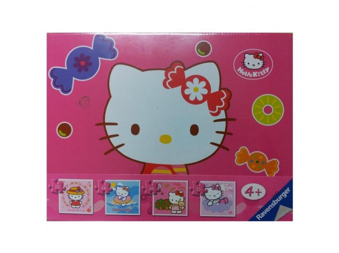 Ravensburger Hello Kitty 4v1 2x25 a 2x36 dílků
