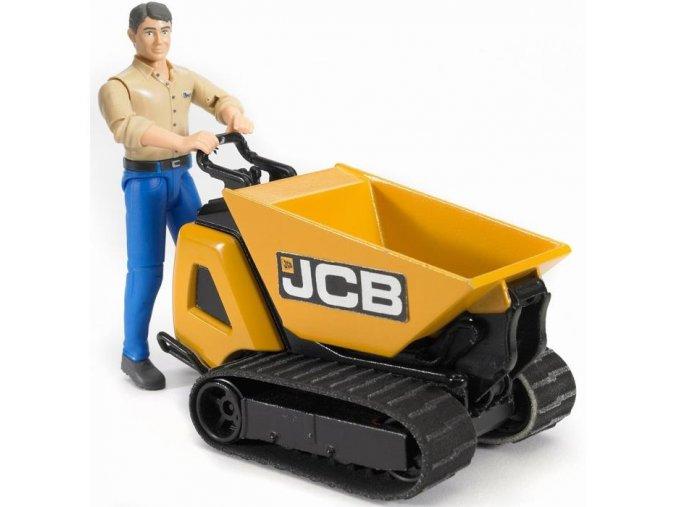 BRUDER 62004 Pásový přepravník JCB s figurkou