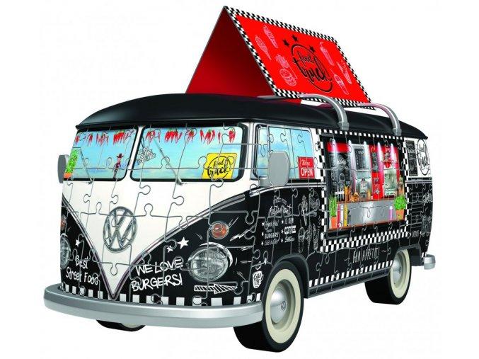 VW Autobus pojízdné občerstvení 3D 162 dílků 1