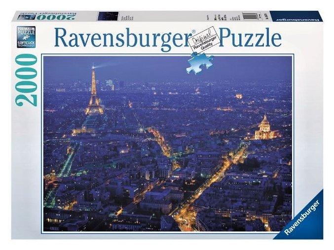puzzle Pohled na noční Paříž 2000d, Ravensburger