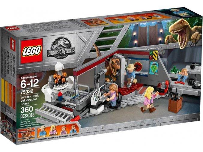 LEGO JurassicWorld 75932 Jurský park hon na Velociraptora