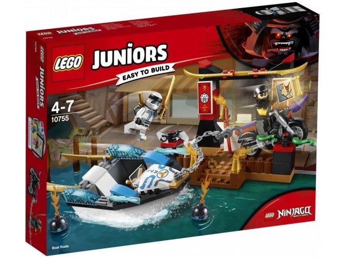 LEGO Juniors 10755 Pronásledování v Zaneově nindža člunu