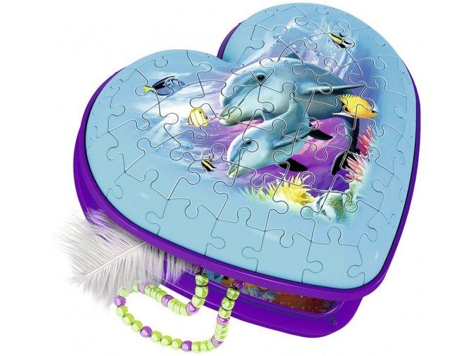RAVENSBURGER 3D puzzle Srdce Podmořský svět 54 dílků