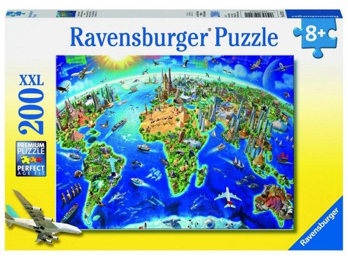 Ravensburger Velká mapa světa 200 dílků
