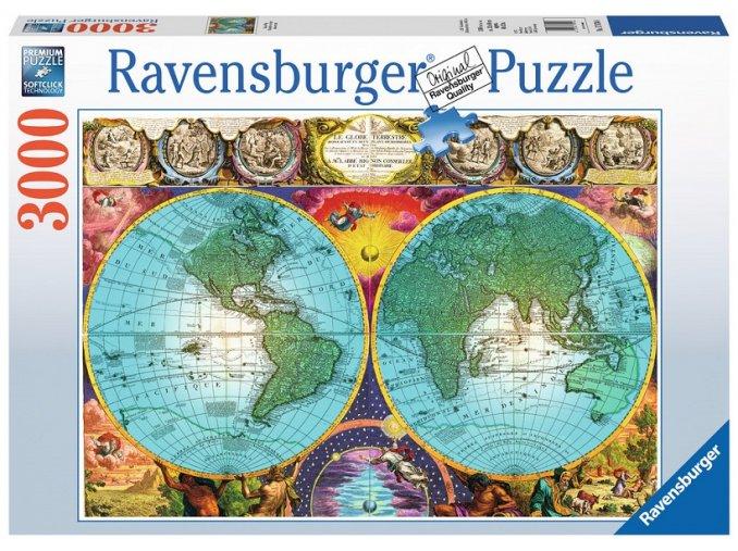 Ravensburger Antická mapa 3000 dílků