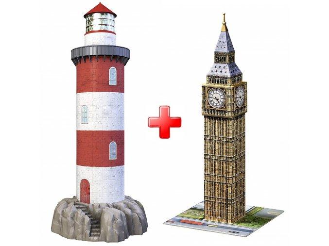 Sada 3D Maják + Big Ben