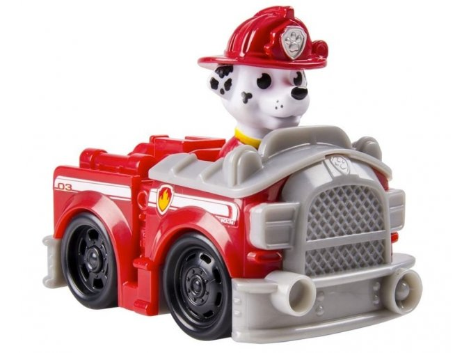 Spin Master Paw Patrol Malá vozidla s figurkou Marshall Hasičský vůz