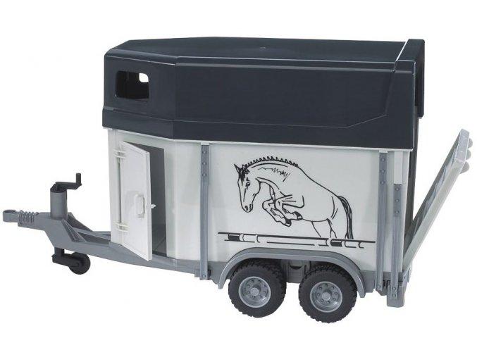 BRUDER 2028 Přívěs pro převoz koní a kůň