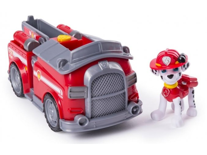 Spin Master Paw Patrol základní vozidla s figurkou Marshall