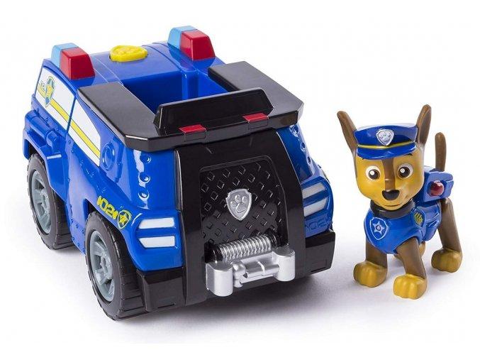 Spin Master Paw Patrol Základní vozidla s figurkou Chase