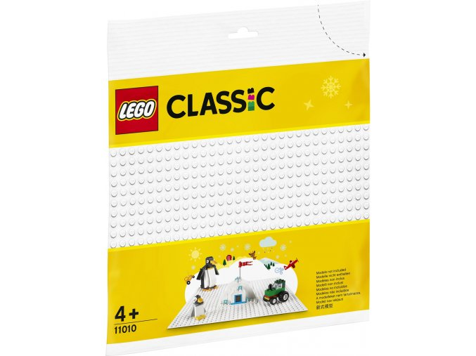 LEGO Classic 11010 Bílá podložka na stavění