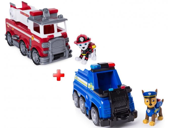 Spin Master Paw Patrol Základní vozidla ULTIMATE RESCUE Marshall a Chaselarge nw