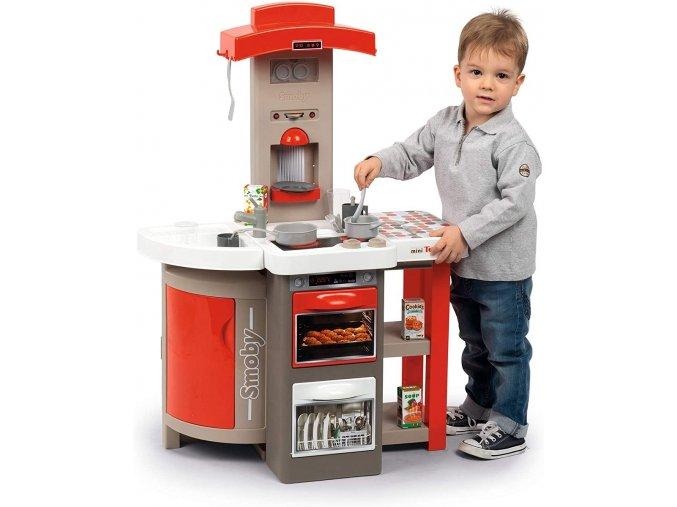 Smoby Kuchyňka skládací elektronická Tefal Opencook červená