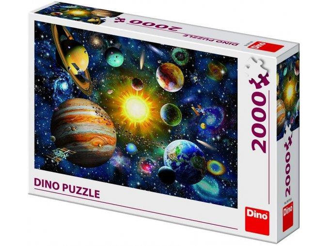 Dino Sluneční soustava 2000 dílků