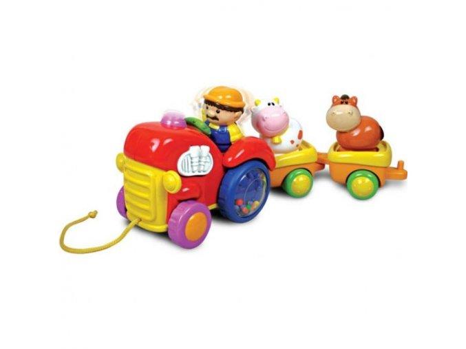 Traktor s valníčky se zvířátky