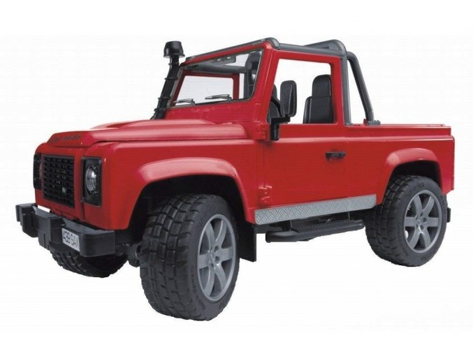 BRUDER 2591 Land Rover Defender Pick Up červený