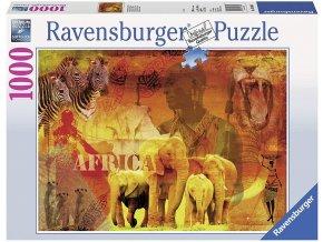 puzzle Dojmy z Afriky 1000d, Ravensburger