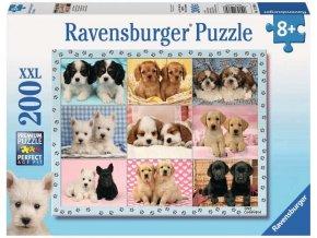 puzzle Perfektní štěnata 200d, Ravensburger