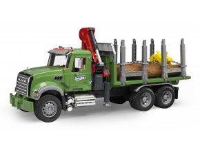 BRUDER 2824 Nákladní auto MACK Granit přeprava dřeva