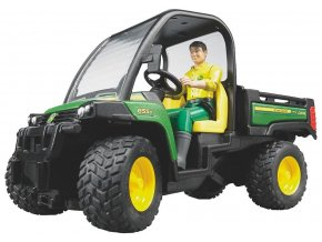 BRUDER 2490 John Deere Gator XUV 855D + figurka