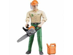 BRUDER 60030 Bworld Figurka lesní dělník s příslušenstvím