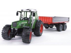 BRUDER 2104 Traktor Fendt Farmer 209S s přívěsem2