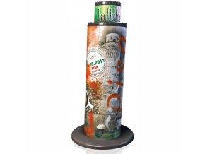 3D puzzle Šikmá věž v Pise Vlajková edice 216 dílků, Ravensburger