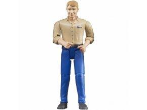 Bruder 60006 Bworld Muž modré kalhoty