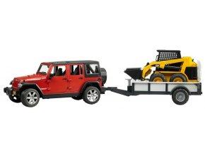 BRUDER 2925 Jeep Wrangler Unlimited Rubicon s valníkem a nakladačem BOB 2431