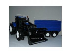 BRUDER 1993 Traktor New Holland T8040 s vlekem a čelním nakladačem