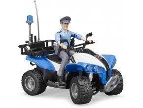 BRUDER 63010 Policejní čtyřkolka s figurkou policistky