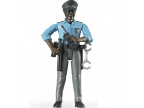 BRUDER 60051 Bworld Figurka MUŽ policista černoch