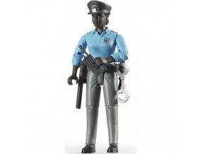 BRUDER 60431 Bworld Figurka ŽENA policistka černoška