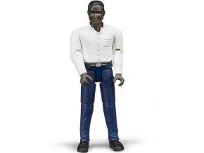 BRUDER 60004 Bworld Figurka MUŽ černoch