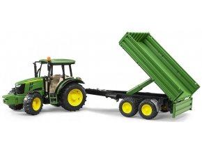 BRUDER 2108 Traktor John Deere 5115M s valníčkem