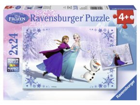 puzzle Ledové království 2x24 dílků, Ravensburger