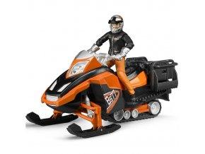 BRUDER 63101 Sněžný skútr s řidičem