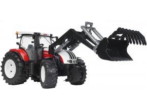 BRUDER 3091 Traktor STEYR CVT 6230 s čelním nakladačem