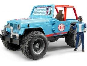 BRUDER 2541 Závodní Jeep Cross Country modrý se závodníkem