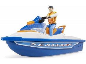 Bruder 63150 Bworld Vodní skútr Seamaxx s figurkou