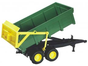 BRUDER 2210 Přívěs s automatickou zadní stěnou zelený