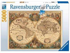 Puzzle Historická mapa 5000 dílků Ravensburger
