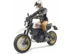 Bruder 63051 Ducati Scrambler Desert Sled s řidičem
