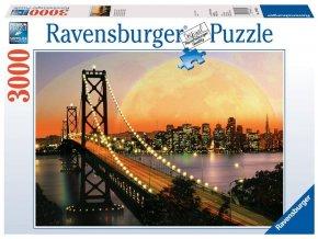 puzzle San Francisco v noci 3000d, Ravensburger